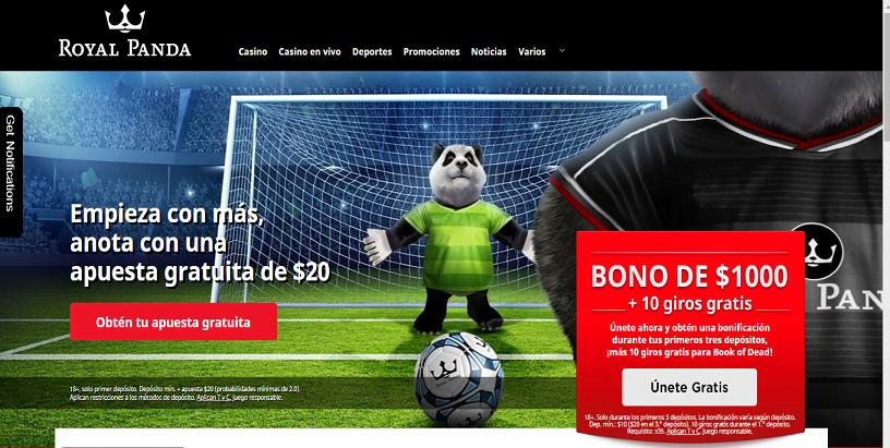 Apuestas deportivas en Royal Panda Casino