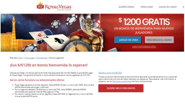 Bonos de Royal Vegas